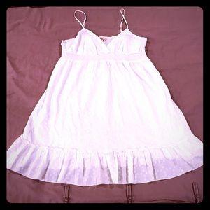 Summer Forever 21 All White Polkadot Dress